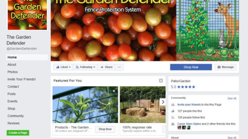 Social Media Marketing for GardenDefender.com