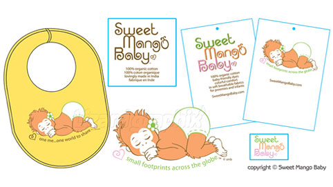 Children's Clothing Graphic Design for Hangtags, Labels